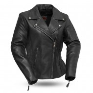 Allure Women's Leather Motorcycle Jacket