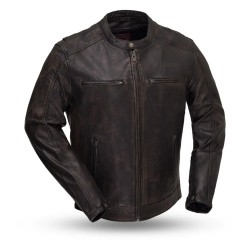 Hipster Men's Motorcycle Leather Jacket