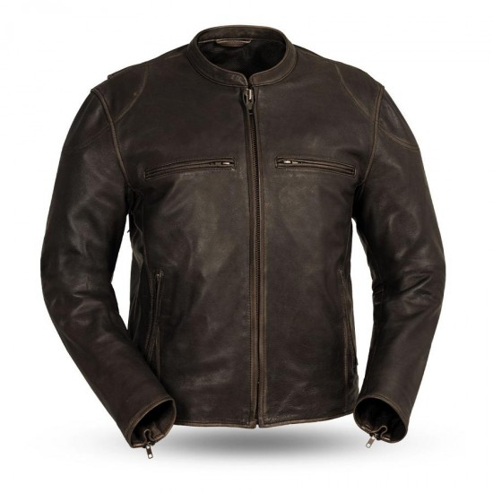 INDY Men's Motorcycle Leather Jacket