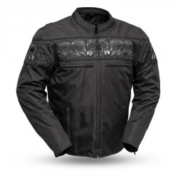 Immortal Cordura Reflective Skull Motorcycle Jacket