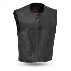Raceway Perforated Swat Style Leather Vest
